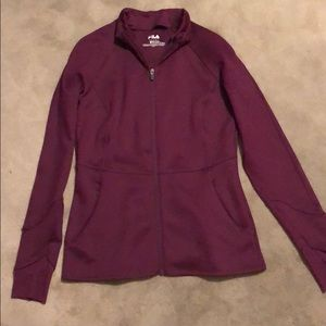 Dark Purple Zip Up Sweatshirt